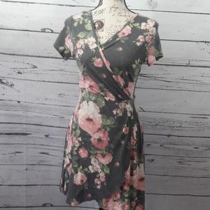 Charlotte Russe sz S dress rose design all over
